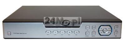 16 - kanałowy rejestrator cyfrowy, TRYBRYDA, obsługa kamer IP, AHD i analogowych, pełna kompatybilnoœć ze standardami 1.0 MPX i 2.0 MPX, ONVIF, polski soft