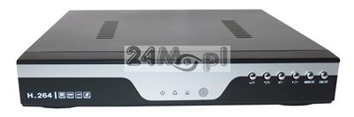 8 - kanałowy rejestrator hybrydowy do kamer AHD i analogowych, obsługa rozdzielczoœci FULL HD [1080P] i niższych, płynny ruch, P2P [praca w chmurze]