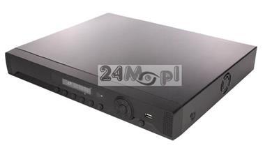 16 - kanałowy rejestrator hybrdyowy do kamer AHD, IP i analogowych - obsługa rozdzielczoœci do 5 MPX, płynny ruch [25 klatek / sekundę], dostęp zdalny przez komputery / telefony / tablety, wsparcie dl