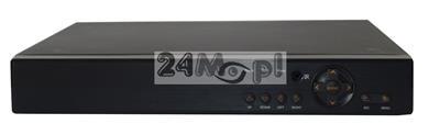 8 - kanałowy rejestrator hybrydowy - obsługa trybów AHD, IP i analog - polskie MENU, płynny ruch, pełny dostęp zdalny przez Internet i telefony komórkowe
