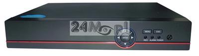 8 - kanałowy rejestrator hybrydowy [do kamer AHD, IP i analogowych] - obsługa rozdzielczoœci do 4 MPX [2688 x 1520], dostępny tryb REAL TIME [płynny ruch], pełny dostęp zdalny przez Internet i telefon