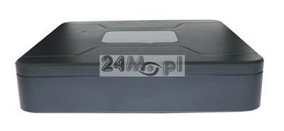 8 - kanałowy, MINIATUROWY rejestrator cyfrowy do kamer analogowych i IP (tryb hybrydowy), polskie MENU, pełny dostęp zdalny (Android/iPhone)