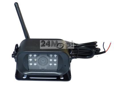 Bezprzewodowa kamera do monitoringu pojazdów - idealna do zastosowań jako kamera cofania, 12/24V [do samochodów osobowych i ciężarowych], 11 diod IR, szeroki kšt widzenia