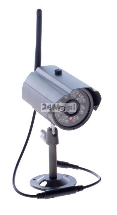 Zewnętrzna, BEZPRZEWODOWA kamera HD - 1280 x 720, 24 diody podczerwieni, szeroki kšt widzenia, szczelna obudowa
