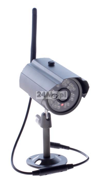 Zewnętrzna kamera bezprzewodowa FULL HD [2 MPX - 1080P] - zasięg do 200 metrów, 24 diody podczerwieni, szeroki kšt widzenia, obudowa odporna na warunki atmosferyczne [IP66]