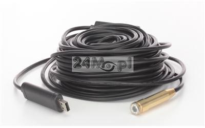 Kamera inspekcyjna [endoskopowa] na USB, 5 - metrowy przewód, IP67, diody LED