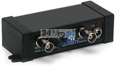 Wzmacniacz sygnału wideo do kamer przemysłowych - przesył wizji kablem koncentrycznym na odległoœć 2000 metrów
