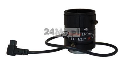 Obiektyw 2,8 - 12 mm 3 MPX (4 x ZOOM manualny) z funkcjš AUTO-IRIS - dedykowany do wysokiej klasy kamer IP i AHD